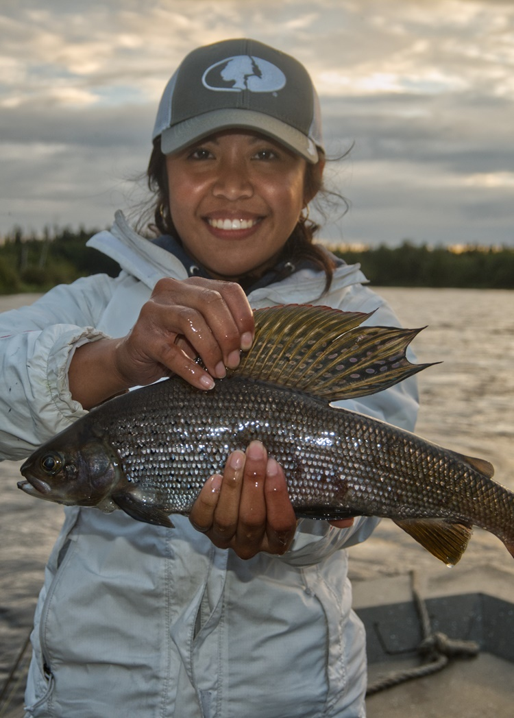 on the fly grayling fishing SK